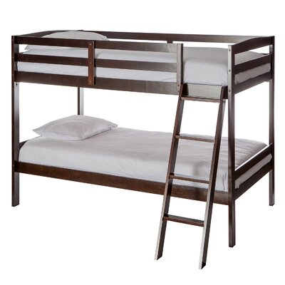 Taylor Twin over Twin Bunk Bed Bed Frame Color: Espresso