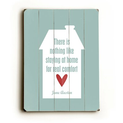 Nothing is Like Staying Home Wood Sign