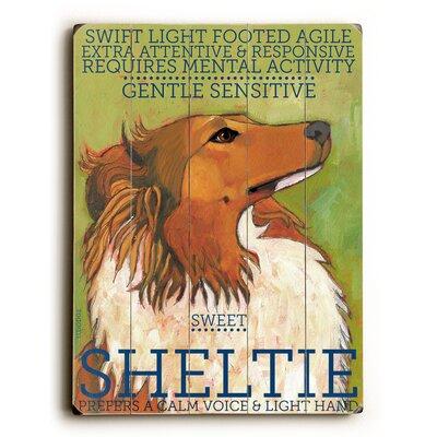 Sheltie Wood Sign