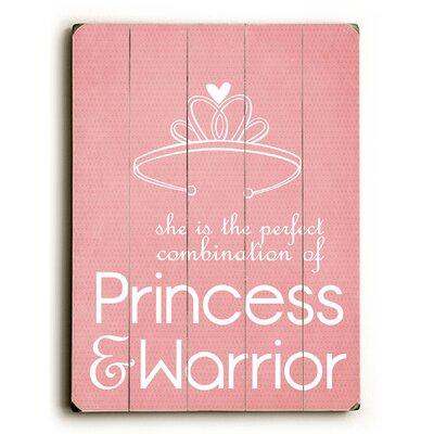 Princess & Warrior Wood Sign