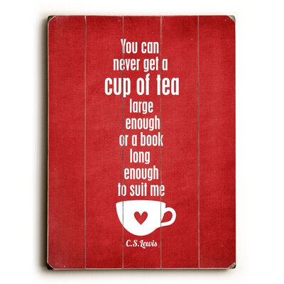 Cup Of Tea by Cheryl Overton Textual Art Plaque 0004-2363-26