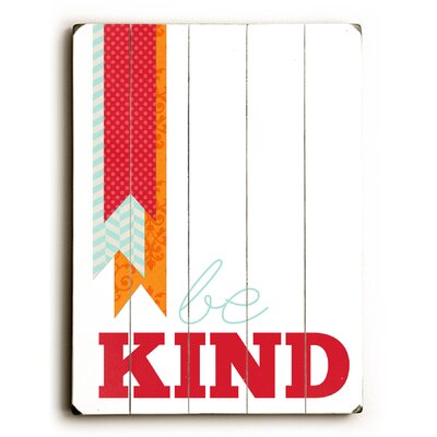 Be Kind By Cheryl Overton Textual Art Plaque