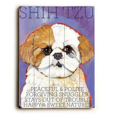 Shih Tzu Wood Sign