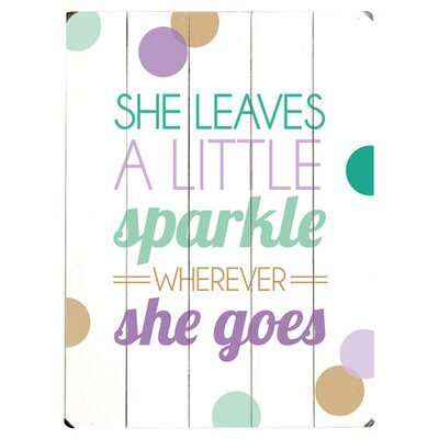 She Leaves a Sparkle Wood Sign