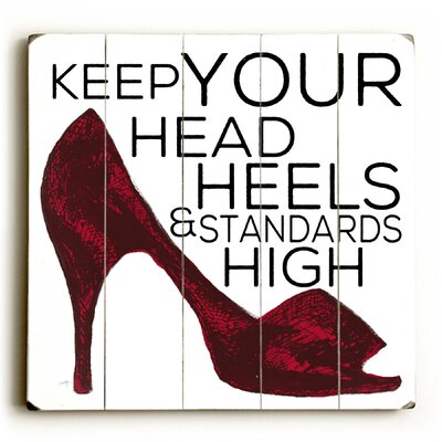 Heels & Standards Poster on Wood Size: 13