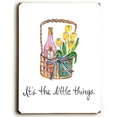 'Its the Little Things' Print on Wood EBND4350 39580423
