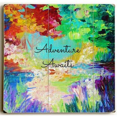 'Adventure Awaits' Graphic Art Print on Wood