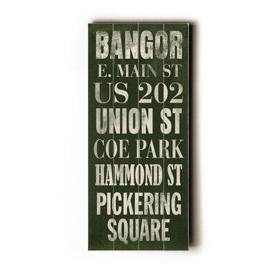 Bangor Transit By Cory Steffen Textual Art Plaque