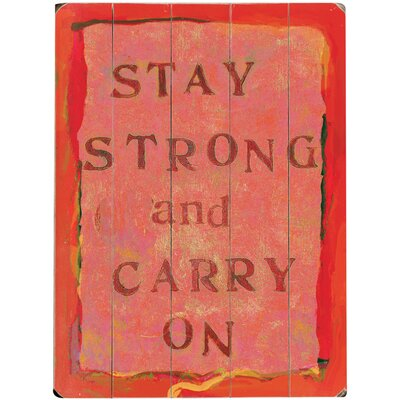 'Stay Strong' Textual Art on Wood 0003-9105-26