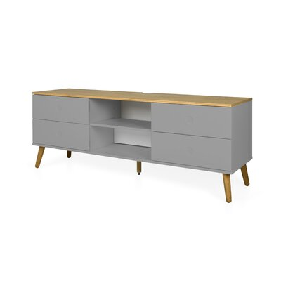 Dot 64 TV Stand Color: Gray / Oak