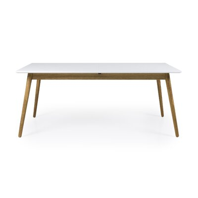 Dot Designer Extendable Dining Table Color: White/Oak