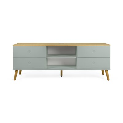 Dot 64 TV Stand Color: Sage / Oak