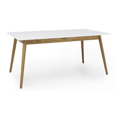 Dot Designer Extendable Dining Table Color: White/Oak
