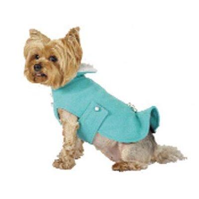 Max's Closet Kick Pleat Dog Coat with Faux Fur Collar - Size: Medium at Sears.com