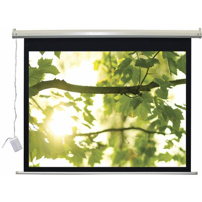 Lectro IR QM A Series Matte Black Electric Projection Screen Viewing Area: 54 H x 96 W