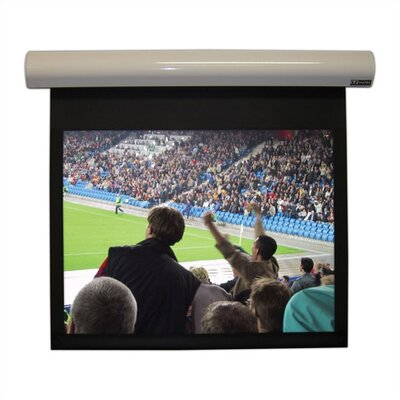 Lectric I Matte Black Electric Projection Screen Low Voltage Motor Viewing Area: 144 diagonal