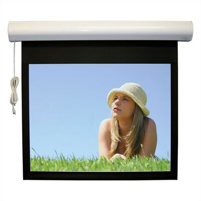 Lectric I RF Matte Black Electric Projection Screen Low Voltage Motor Viewing Area: 129 diagonal
