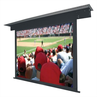 Lectric II Matte Black Electric Projection Screen Low Voltage Motor Viewing Area: 150 diagonal