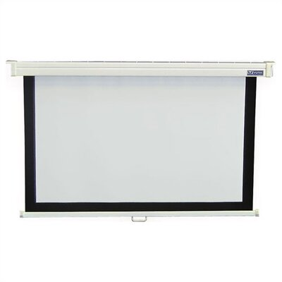 Consort Deluxe Matte White Manual Projection Screen Viewing Area: 39 H x 70 W