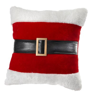 Santa Belt Fabric Throw Pillow