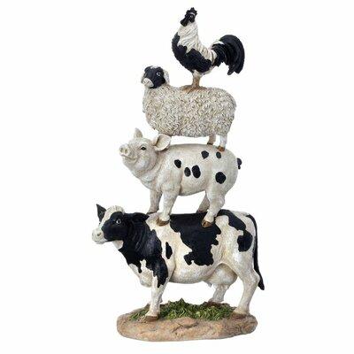 Farm Animal Stack Statue MT21042-ANBK