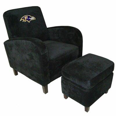NFL Den Armchair and Ottoman Team: Baltimore Ravens