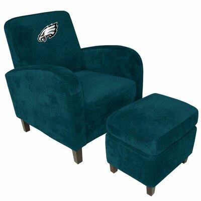 NFL Den Armchair and Ottoman Team: Philadelphia Eagles