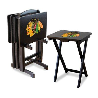NHL TV Trays with Stand NHL Team: Chicago Blackhawks