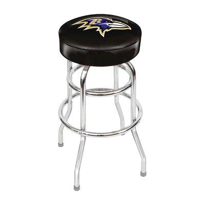 NFL 30 inch Swivel Bar Stool NFL Team: Baltimore Ravens