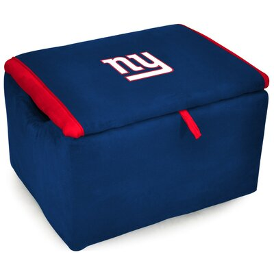 NFL Upholstered Storage Ottoman NFL Team: New York Giants