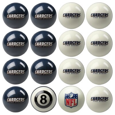 16 Piece NFL Billiard Ball Set NFL Team: San Diego Chargers 50-1126