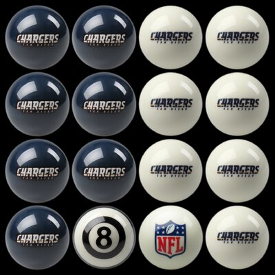 16 Piece NFL Billiard Ball Set NFL Team: San Diego Chargers 50-1126