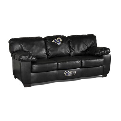 NFL Classic Leather Sofa NFL Team: St Louis Rams