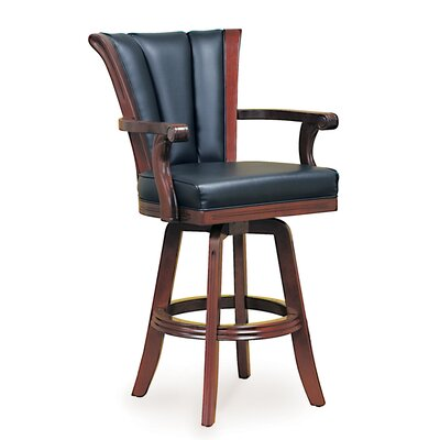 31 Swivel Bar Stool Frame Finish: Mahogany