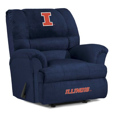Big Daddy NCAA Recliner NCAA Team: University of Illinois
