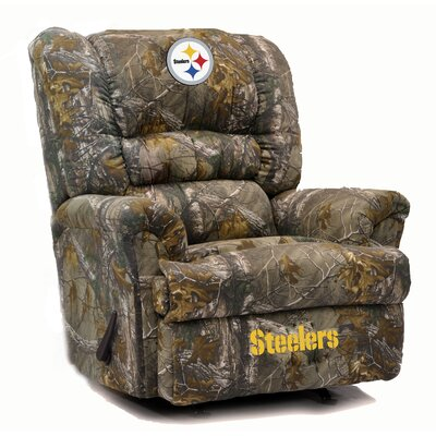 Big Daddy NFL Camo Recliner NFL Team: Pittsburgh Steelers