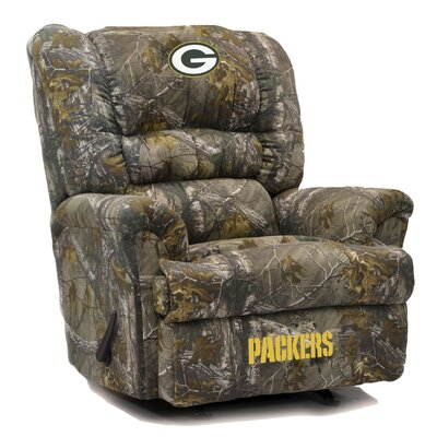 Big Daddy NFL Camo Recliner NFL Team: Green Bay Packers