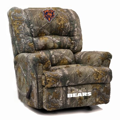 Big Daddy NFL Camo Recliner NFL Team: Chicago Bears