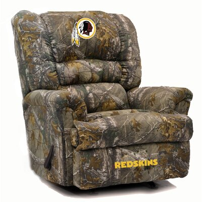 Big Daddy NFL Camo Recliner NFL Team: Washington Redskins