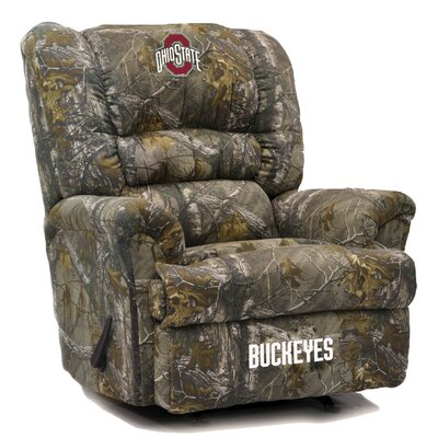 Big Daddy NCAA Camo Recliner College Team: Ohio State