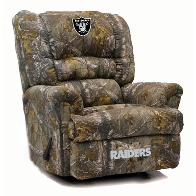 Big Daddy NFL Camo Recliner NFL Team: Oakland Raiders