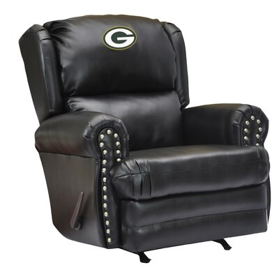 NFL Coach Leather Recliner NFL Team: Green Bay Packers