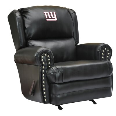 Leather Manual Recliner NFL Team: New York Giants