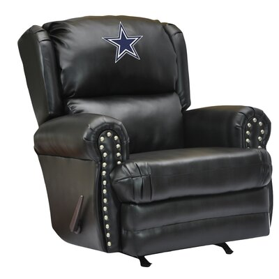 NFL Coach Leather Recliner NFL Team: Dallas Cowboys