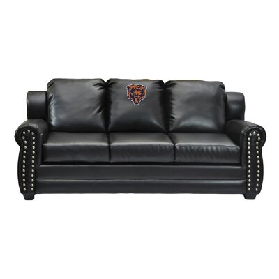 NFL Coach Leather Sofa NFL Team: Chicago Bears