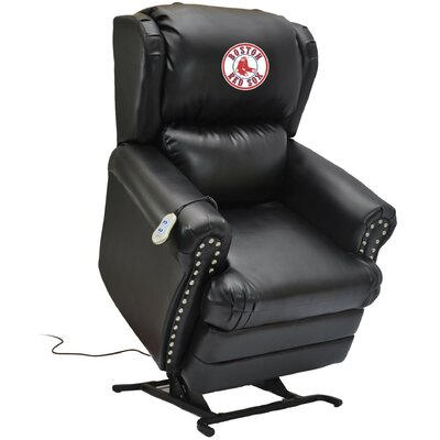 Baseball Power Lift Assist Recliner MLB Team: Boston Red Sox