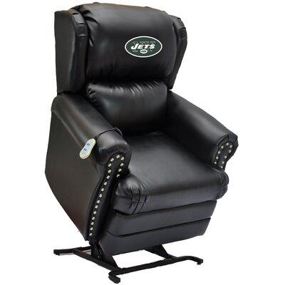 Football Power Lift Assist Recliner NFL Team: New York Jets