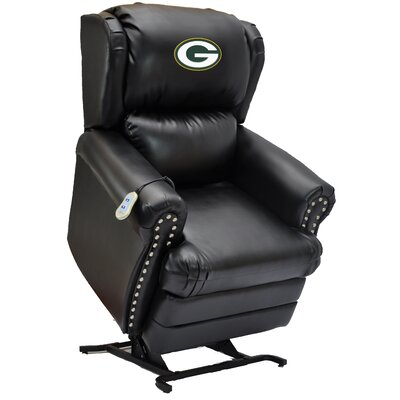 Football Power Lift Assist Recliner NFL Team: Green Bay Packers