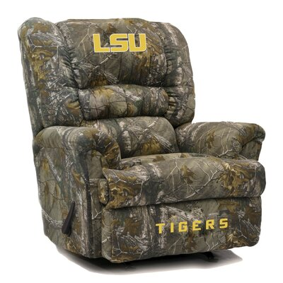 Big Daddy NCAA Camo Recliner College Team: Louisiana State University