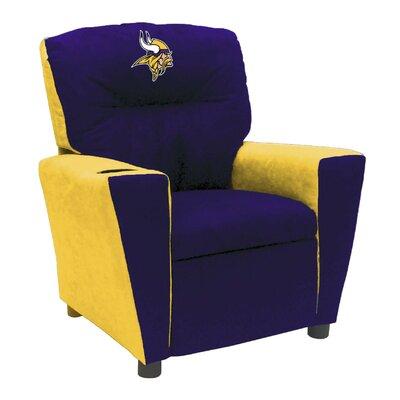Kids Fan Favorite Recliner NFL Team: Minnesota Vikings